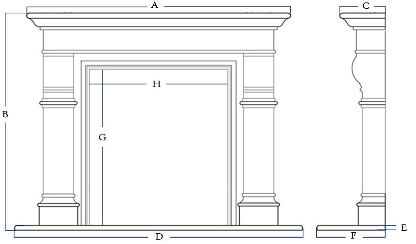 quote fireplace mantel marble cast stone limestone