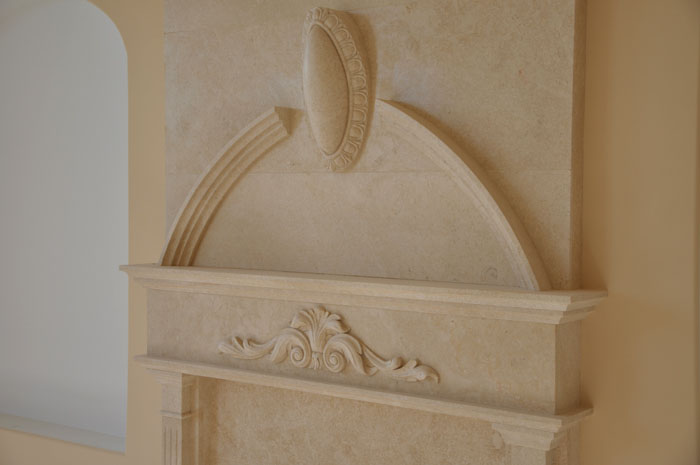 Marble Medallions Fireplace Overmantels