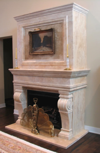 fireplaces mantels surrounds marble cast stone