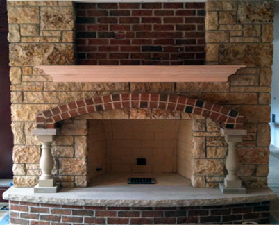 brick stone fireplaces chicago natural limestone. Black Bedroom Furniture Sets. Home Design Ideas