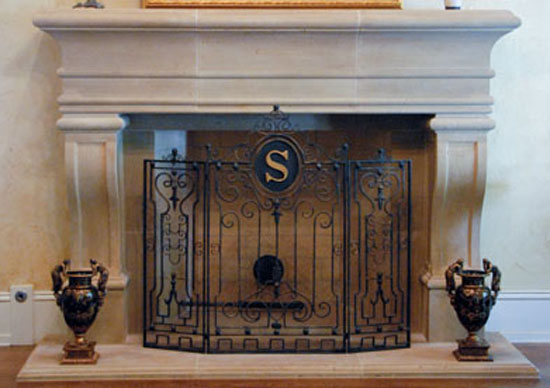 Cast Stone Fireplace Mantels Gallery