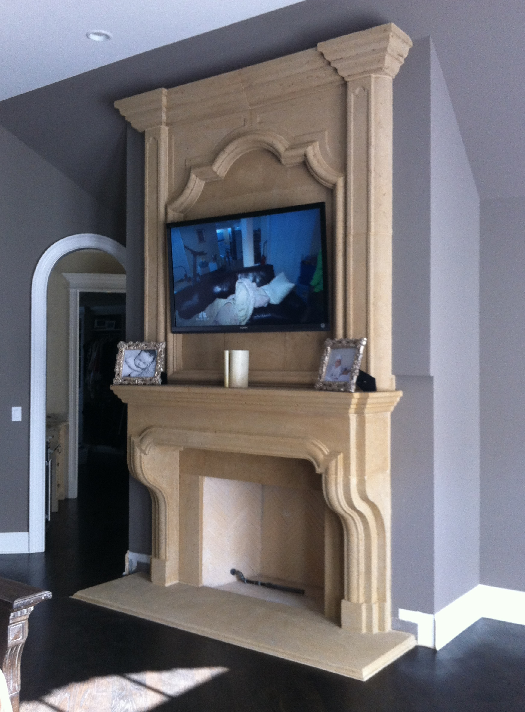 Classic English Cast Stone Fireplace Ideas Overmantel